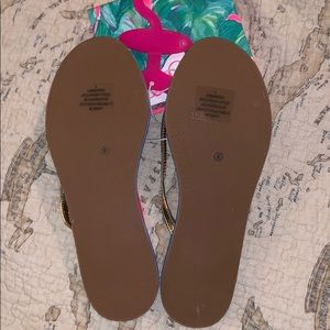 abcd84ac9d75 Lilly Pulitzer for Target Shoes - NWT Lilly Pulitzer Tropical Flip Flops  Beach Ocean